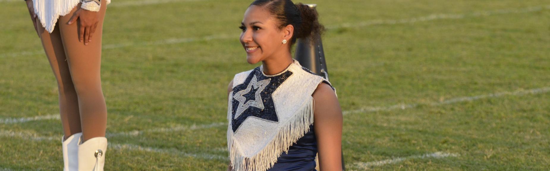 Cheerleader at Game