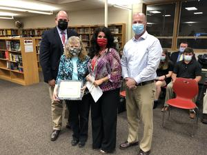Staff being recognized for April board meeting