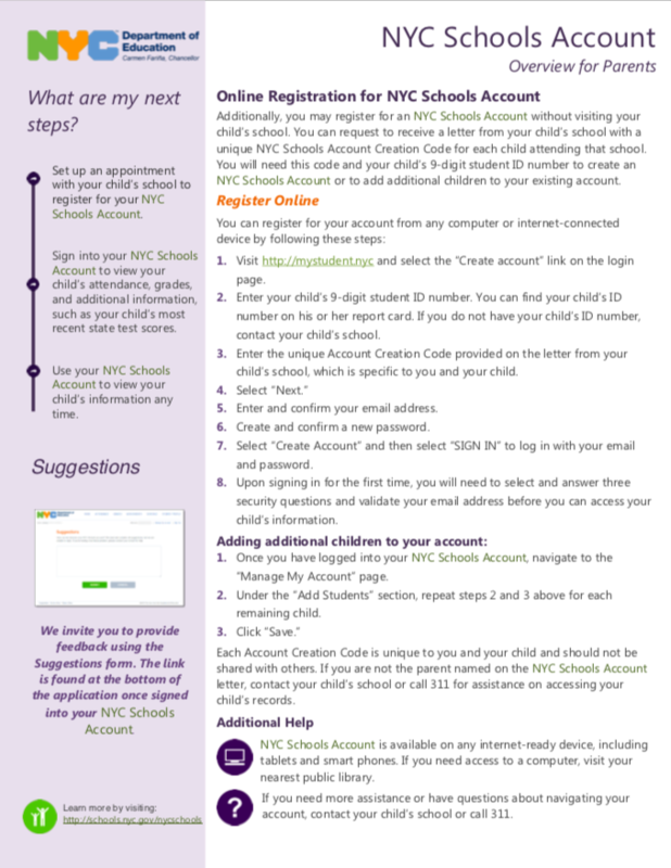 Overview of online registration of school's account