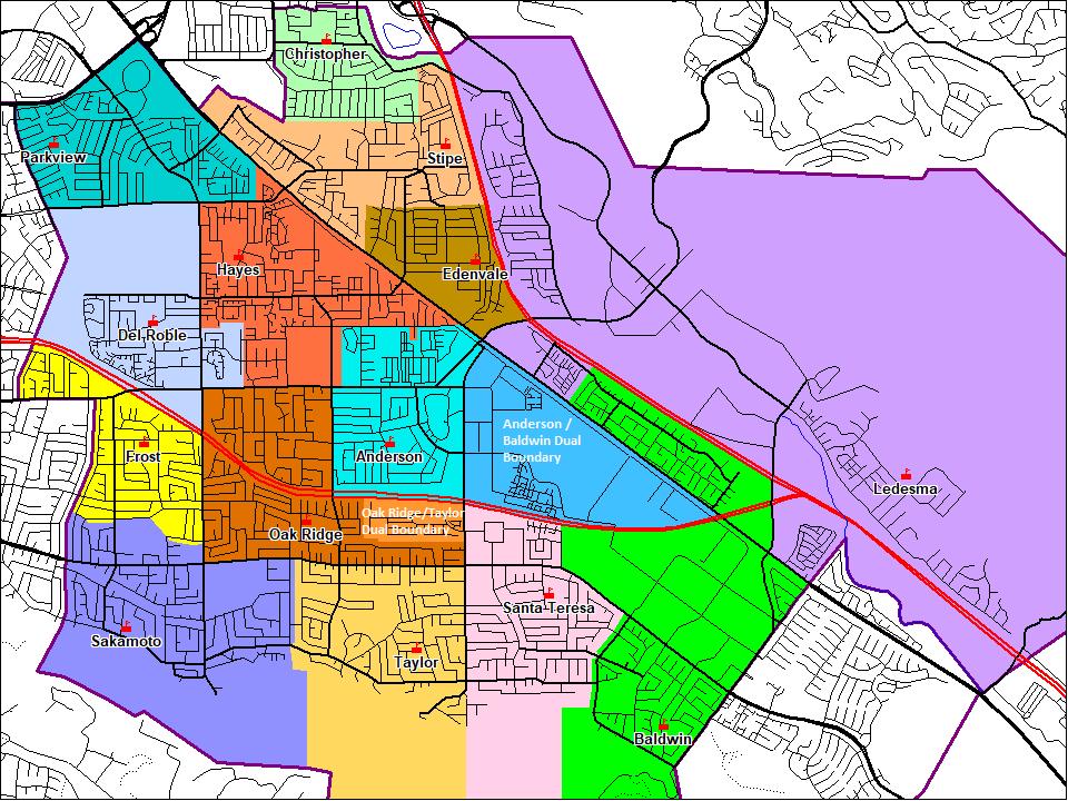 School Boundary Areas – Schools – Oak Grove School District