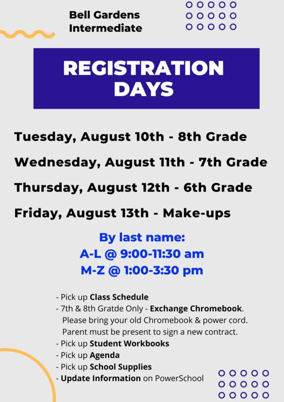 Registration Days Flyer