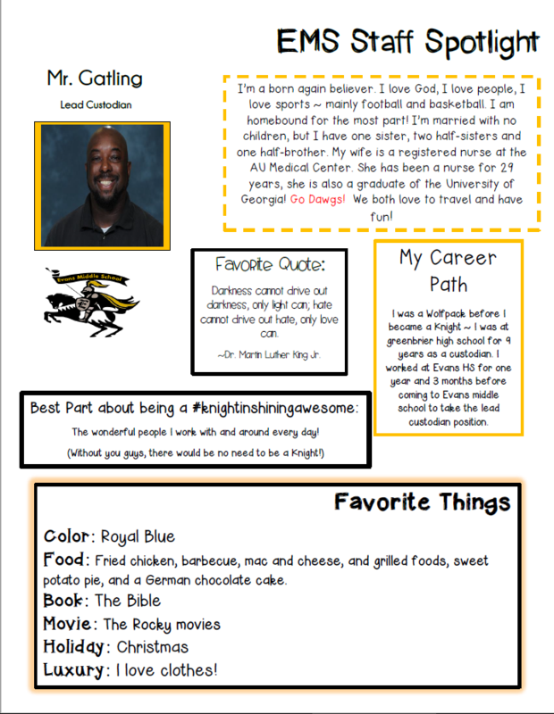 Mr. Gatling EMS Staff Spotlight