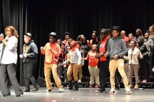 students performing songs