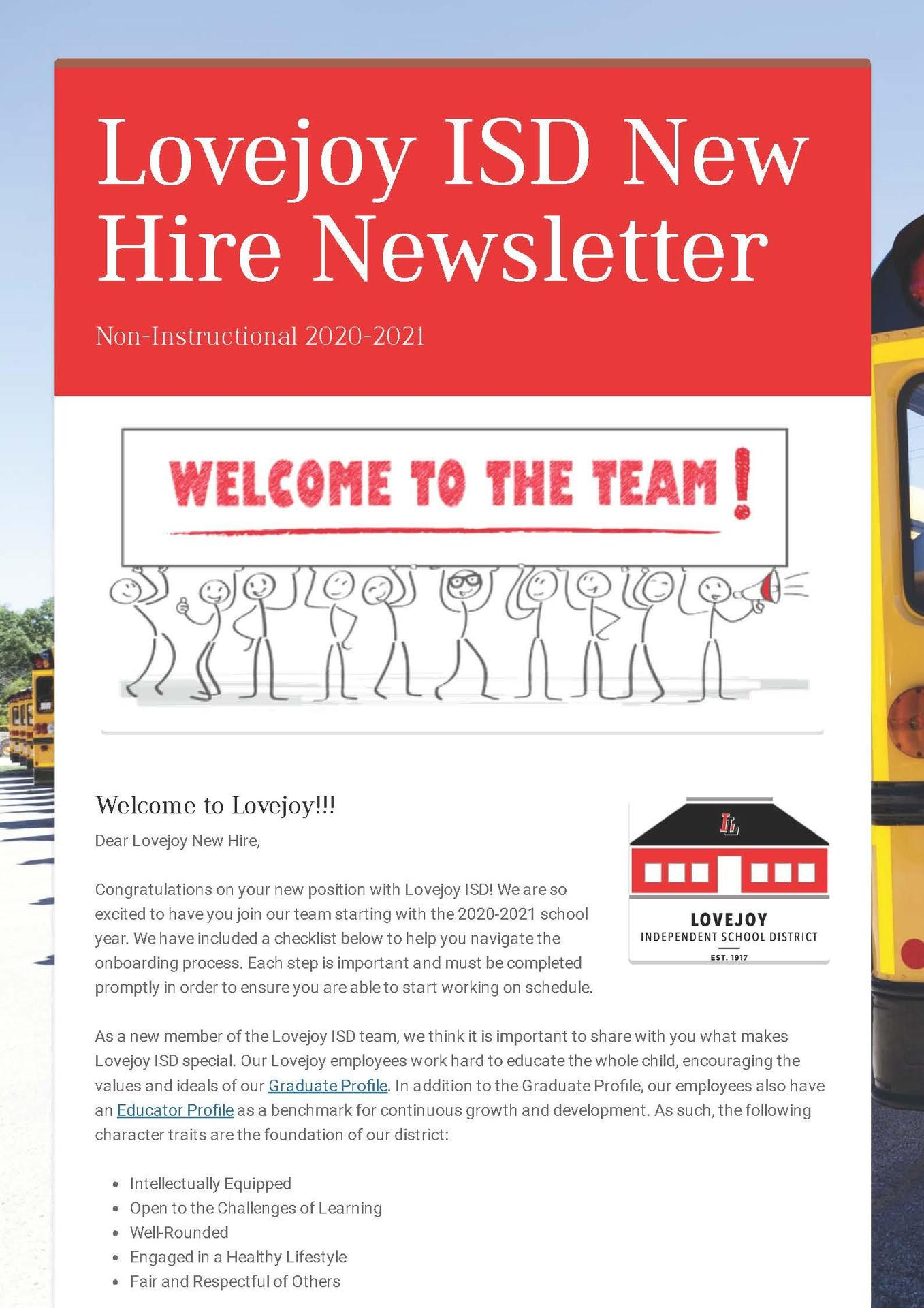 Non-Instructional Newsletter
