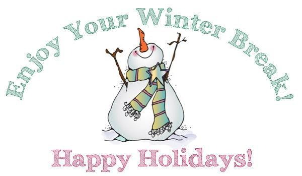 Image that reads Enjoy your winter break and Happy Holidays to announce an article of gratitude to SLV families and staff