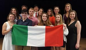 Photo of Westfield High School inductees into National Italian Honor Society.
