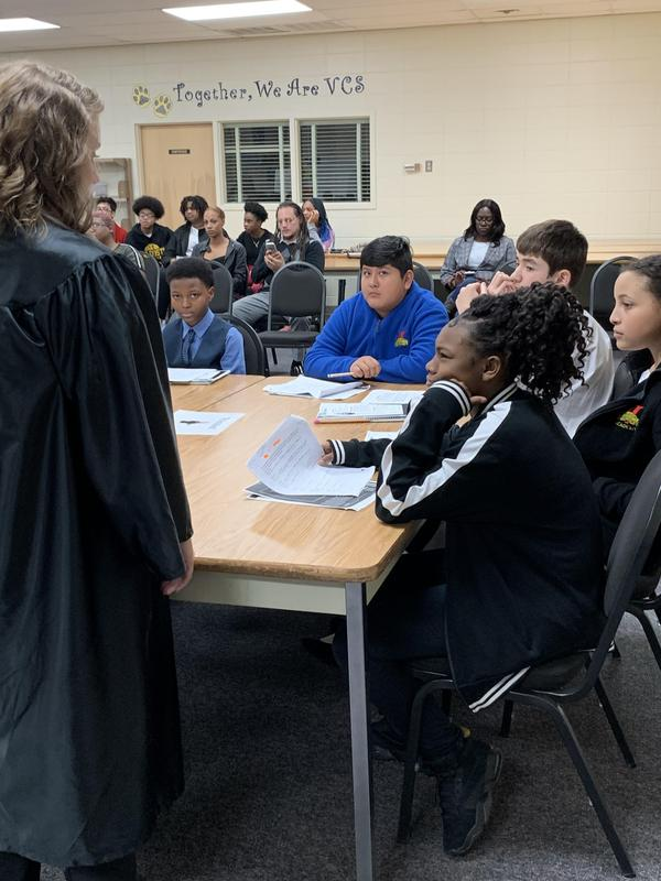 Judge Sparks address the legal team.