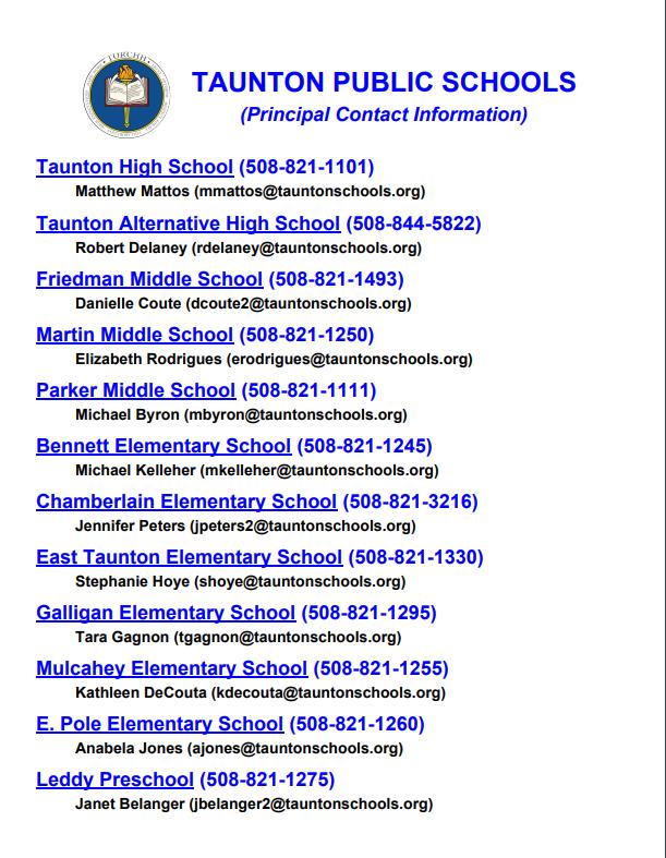 Principal Contacts