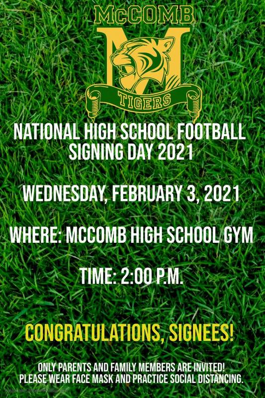 McComb High School Athletic Department Hosts National High School Football Signing Day 2021