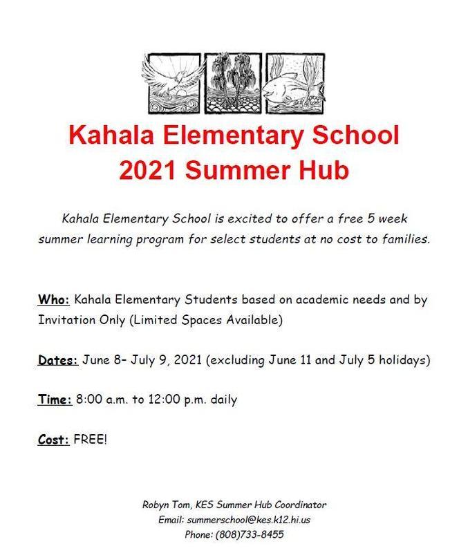 2021 Kahala Elementary Summer Hub