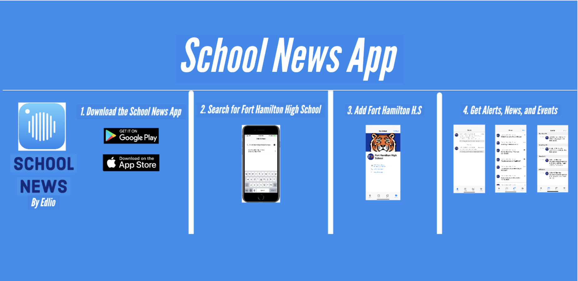 School News, iphone image, screenshots of school news app