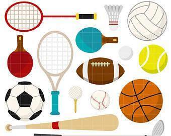 Image of various sporting equipment