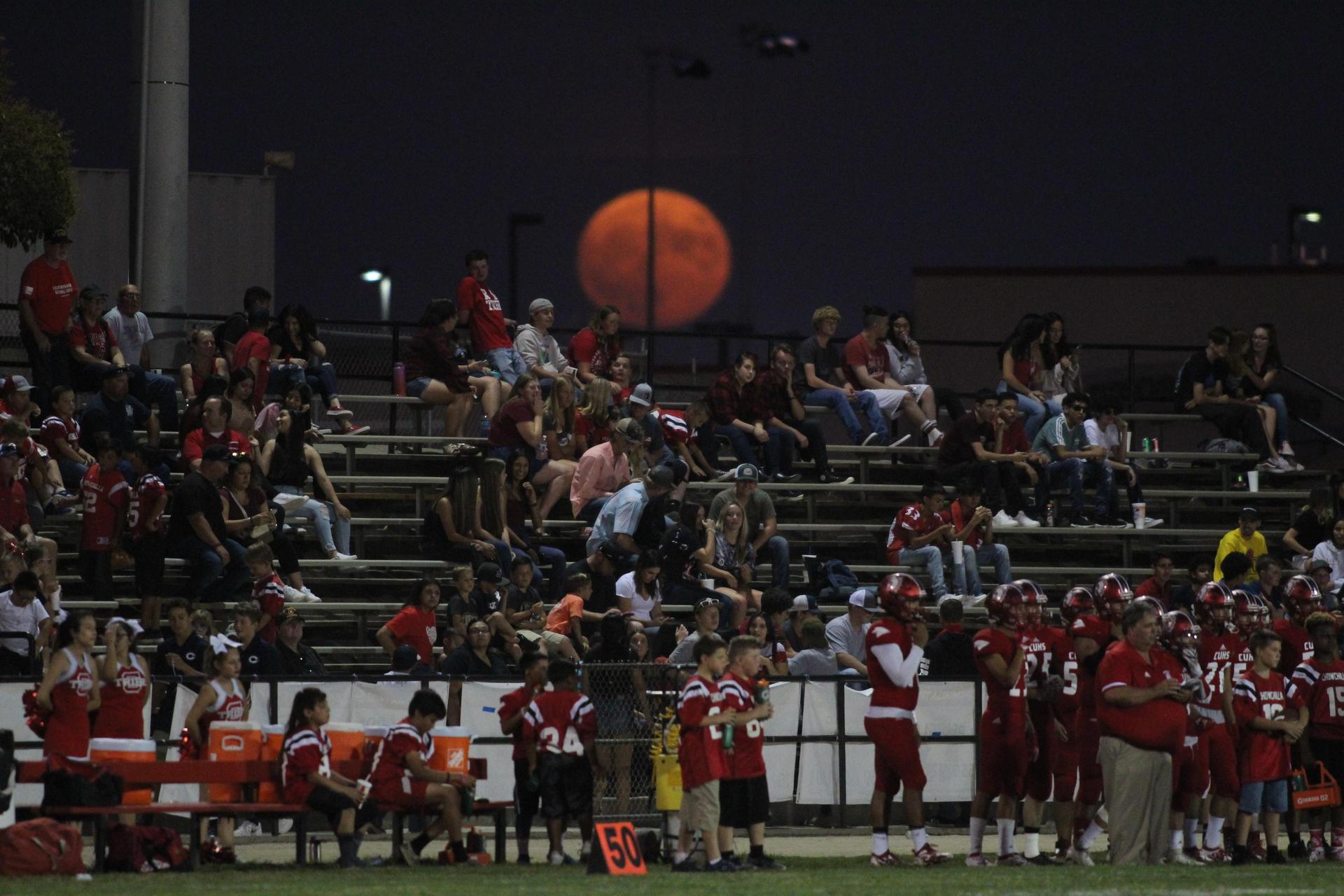 moonrise over the stadium