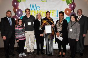 Wellness committee and Fredrika Richardson accepting award