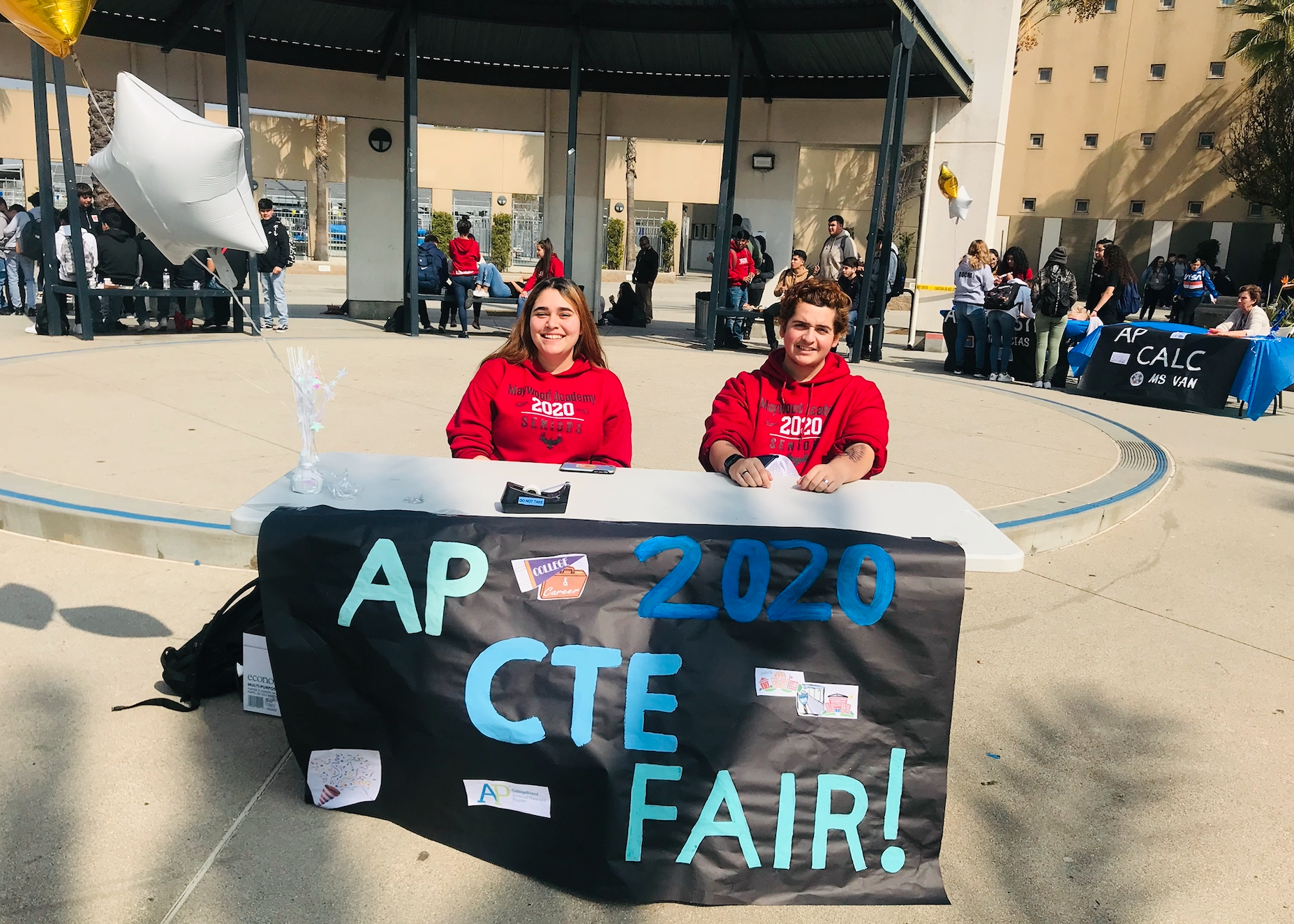 Maywood Academy High School's first AP & CTE Fair!