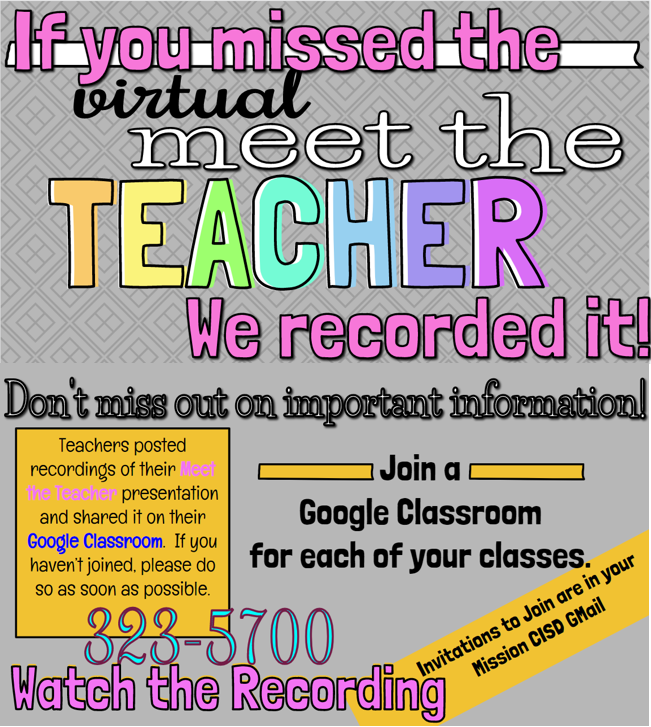 Recording of Virtual Meet the Teacher Featured Photo