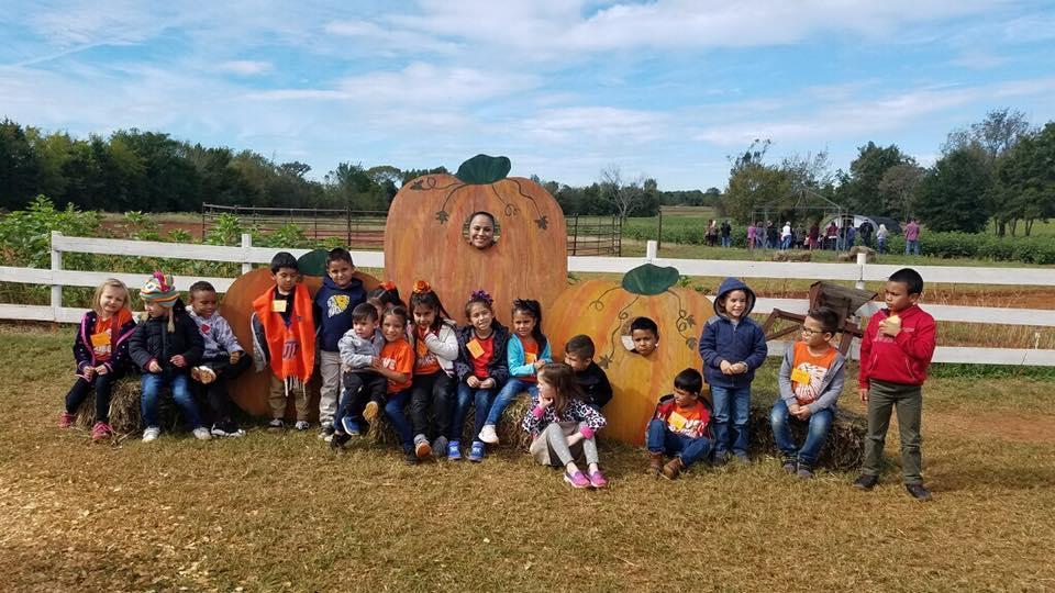 KG students at the Pumpkin Patch