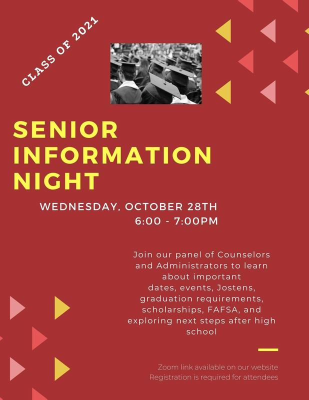 Senior Information Night flyer