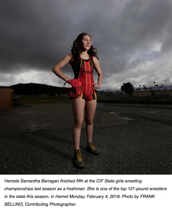 Samantha Barragan Wrester