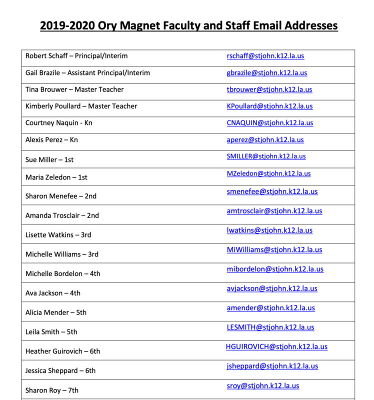 *UPDATED* Teachers DirectORY For Parents Thumbnail Image