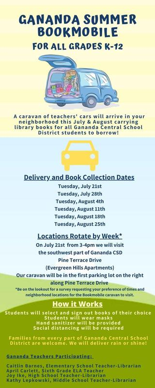 Gananda Launches the Gananda Summer Bookmobile for July and August 2020