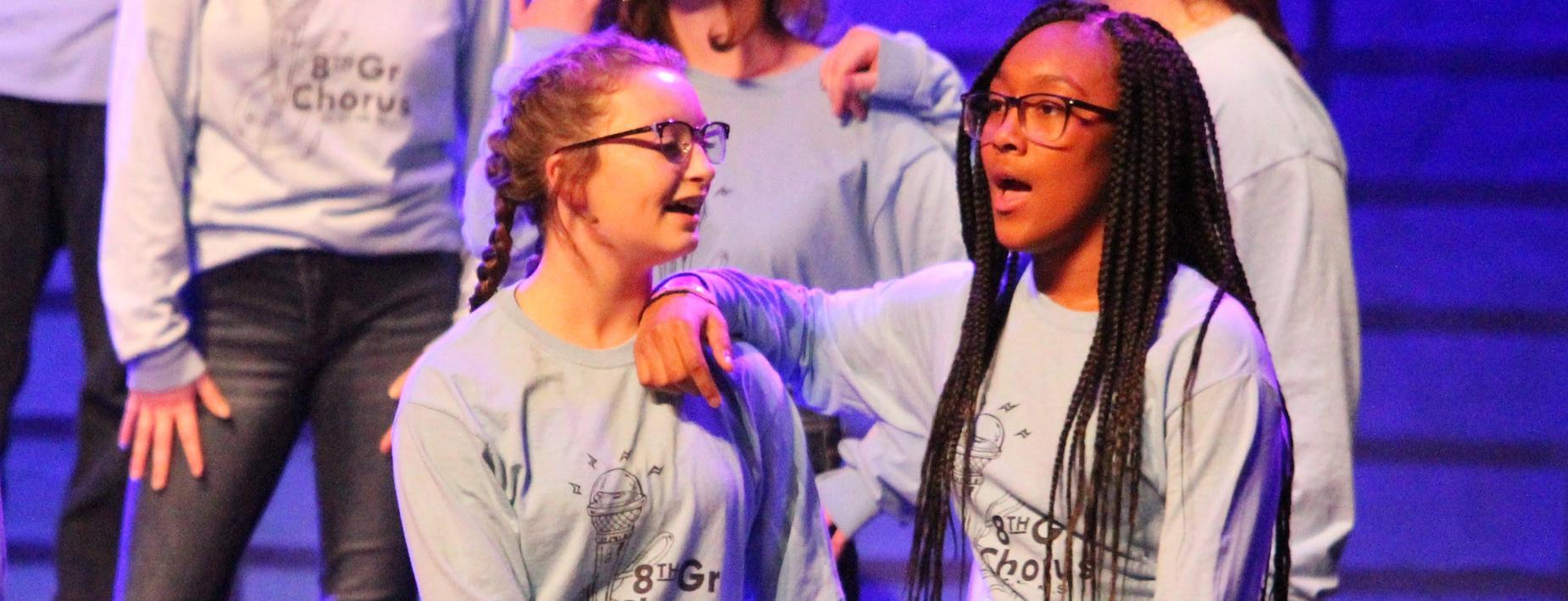 Singing at the 8th grade chorus concert