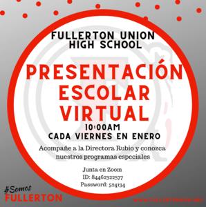 Fullerton High School Virtual Tours