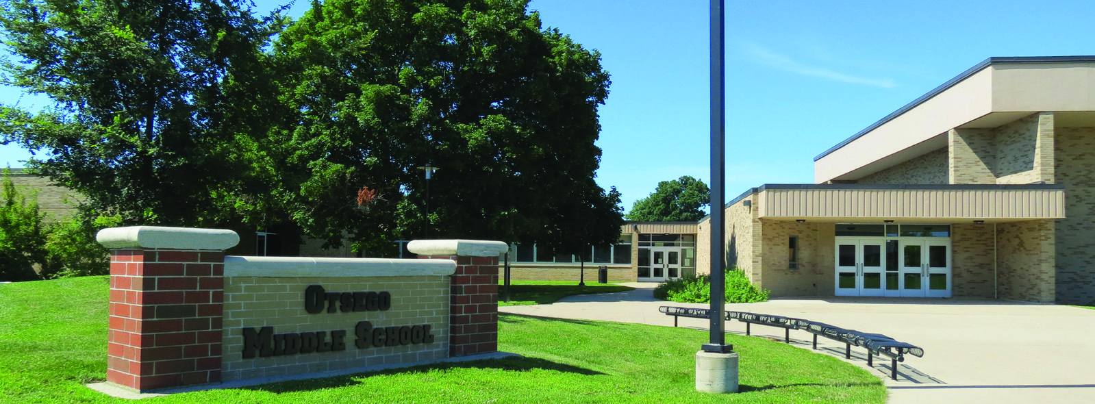 Otsego Middle School exterior of building