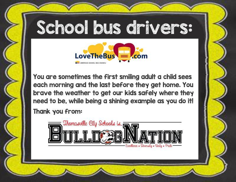 Love the bus week announcement
