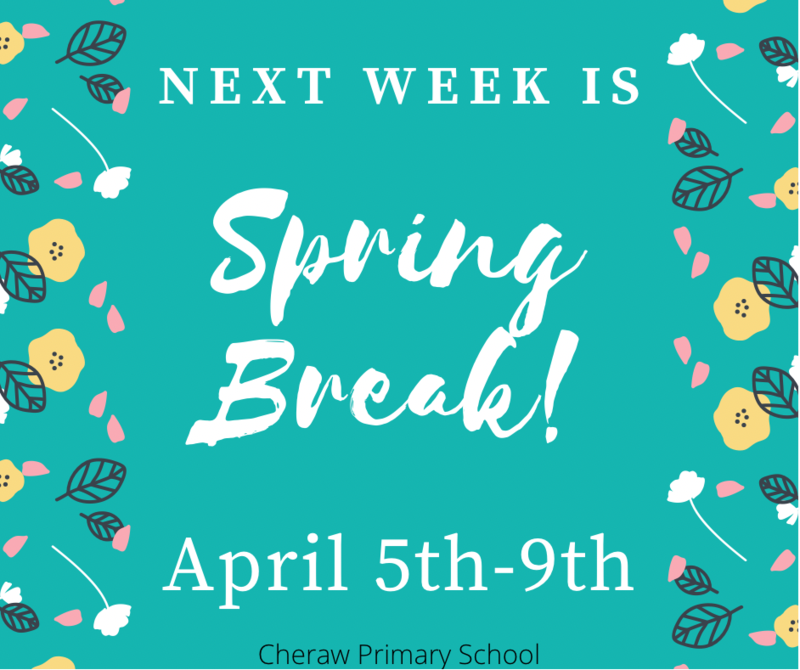 Spring Break is April 5th-9th! Featured Photo