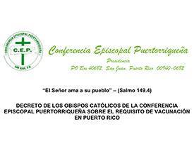 Decreto Obispos - Conferencia Episcopal puertorriqueña sobre requisito de vacunación Featured Photo