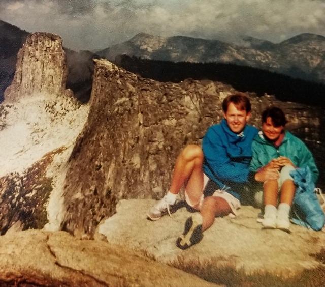Steve Johnson `76 and Melissa Manix `77 on their Priest Lake Honeymoon in 1989