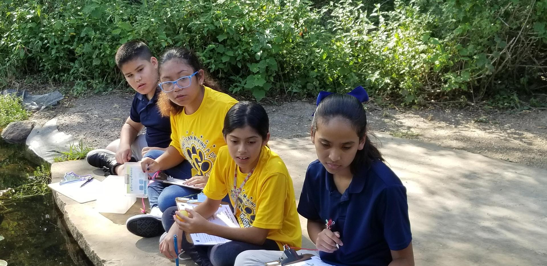 5th grade students at wet lands