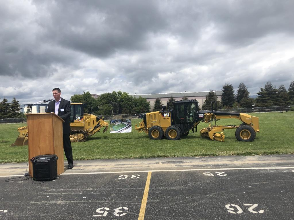 Groundbreaking Ceremony for the Soccer Field!