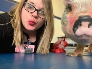 Mrs. Beckmann and Pig