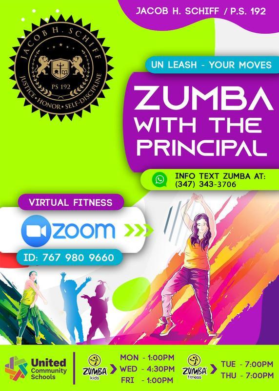 Zumba Flyer English