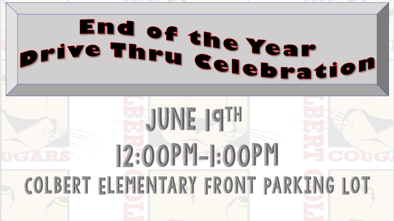 End of the year celebration June 19th 12-1pm