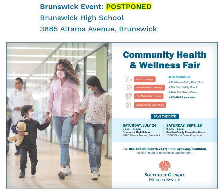 Brunswick Event - Postponed