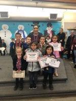 Maestra Sandoval 's Trimester 1 award winners.