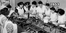 Cooking class circa 1953