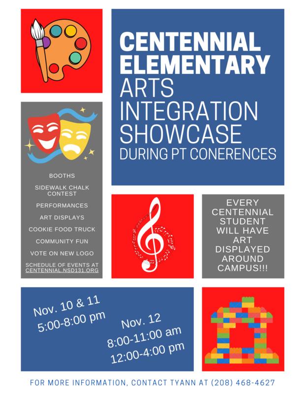 Flier for Arts Integration Showcase