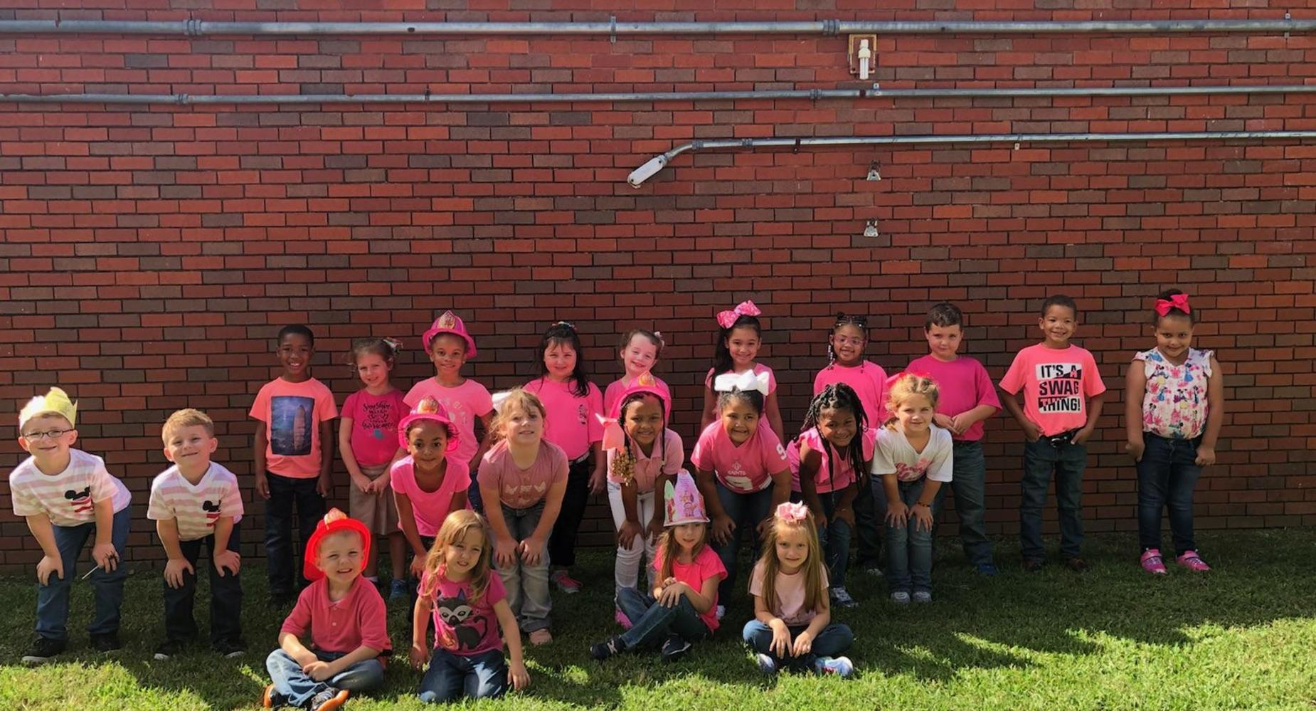 K Students Wear Pink to Support Breast Cancer Awareness