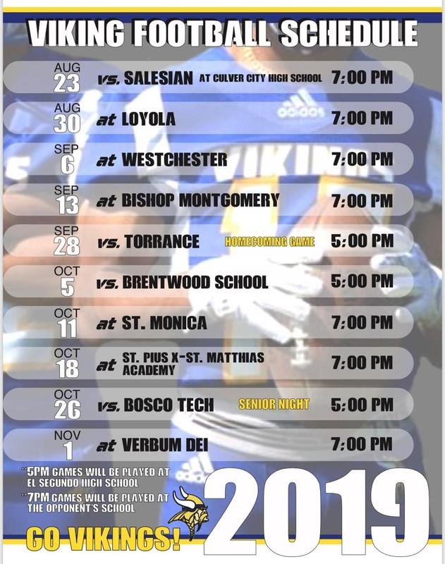 2019 Viking Football Schedule Featured Photo