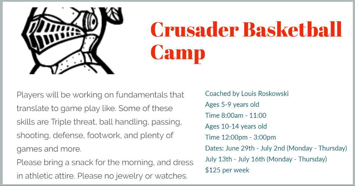 Crusader Basketball Camp