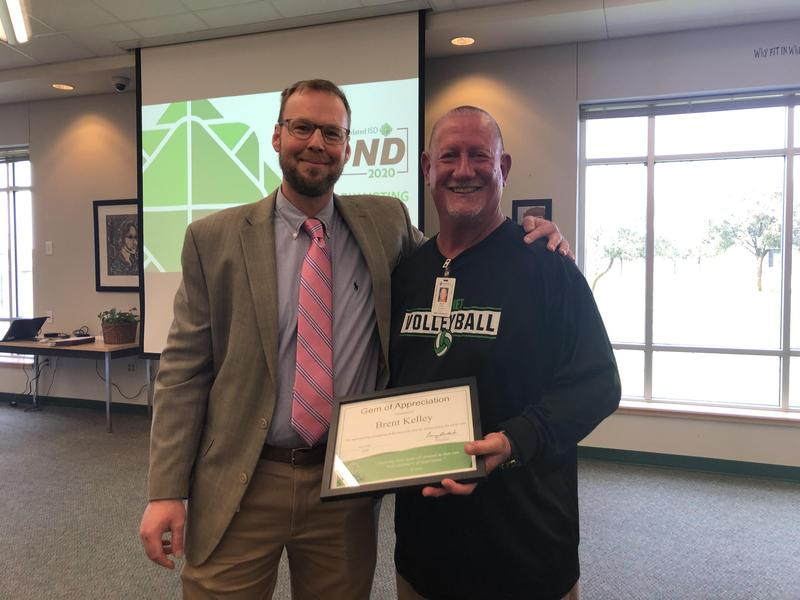Coach Kelley receives BHS Gem Award! Thumbnail Image