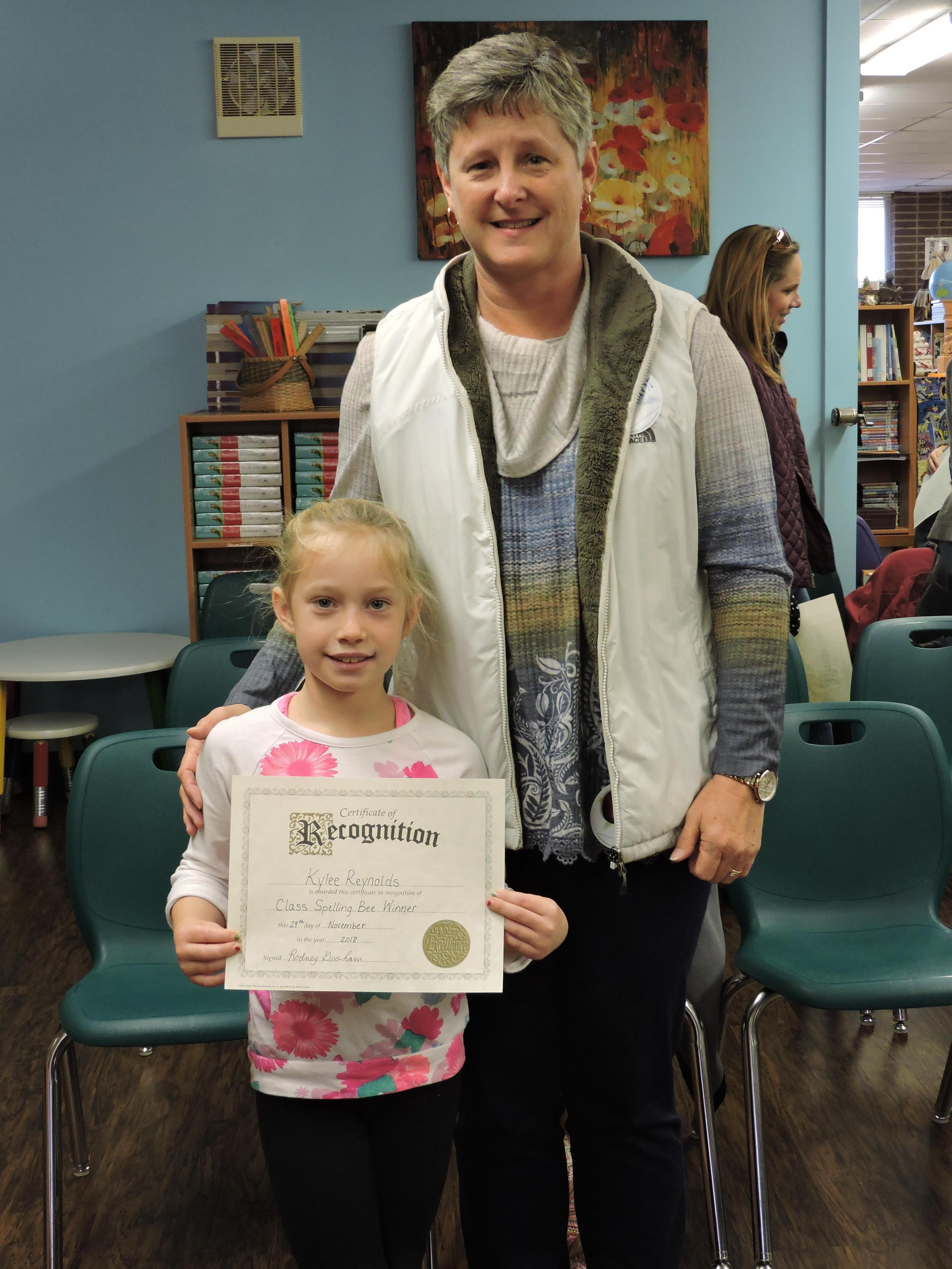 Spelling Bee Participant with grandparent