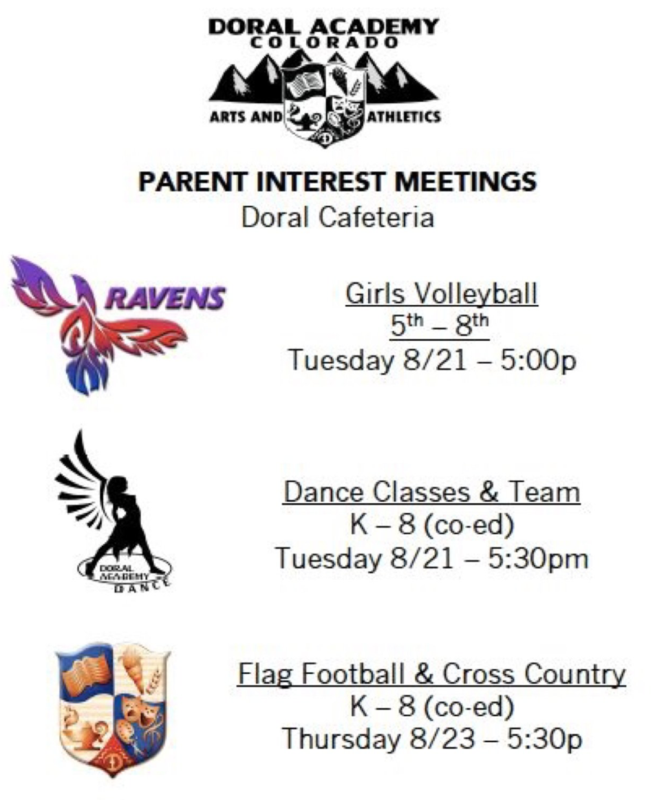 Fall Sports Meeting Dates!! Dance, Volleyball, Flag Football, Cross Country Thumbnail Image