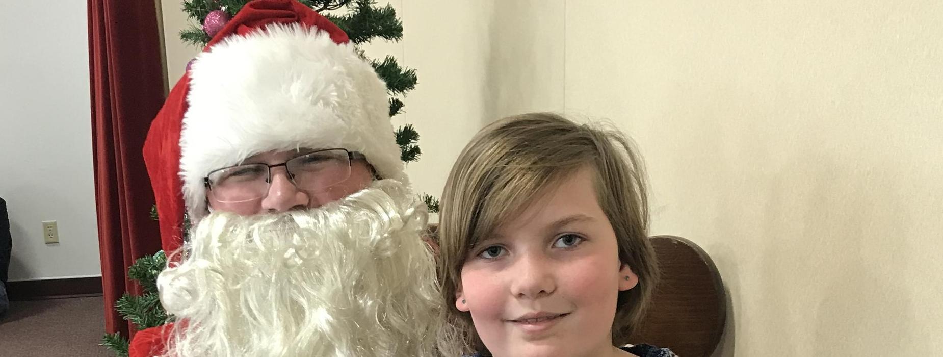 Santa Visits Fred Moodry