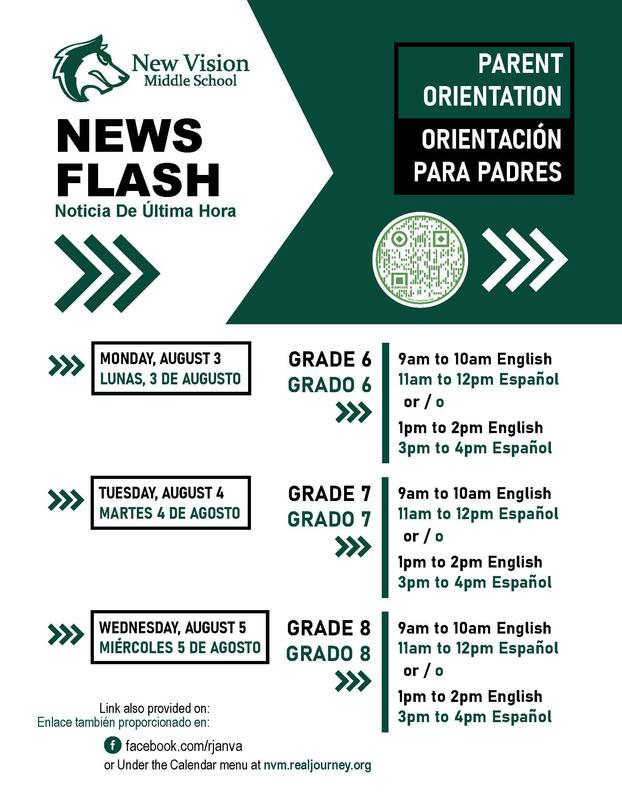 nvms parent orientation days and times