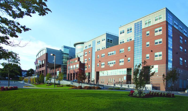 Exterior photo, Everett High School, as seen from Elm Street